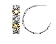 John Hardy Hoop Earrings Gold Dot Silang Sterling Silver New $450