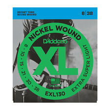 10 Pack D'Addario EXL130 Bright Round Wound Electric Guitar StringsFree US Ship