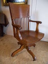 Selten Johnson Chair USA Antik Büro Stuhl 20er Schreibtischstuhl Drehstuhl Desk