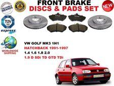für VW Golf 3 III 1H1 Fließheck 1991-1997 Vorderbremse Scheibensatz +