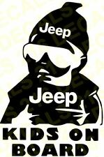 Jeep Kids on Board Baby Wrangler Cherokee Compass  Patriot Decal Sticker Funny