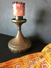 """Old German """"K & H"""" Brass Candle Holder …beautiful accent / collection piece"""
