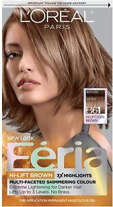 L'Oréal Paris Féria HI-LIFT BROWNS Hair Color, B61 Hi-Lift Cool Brown
