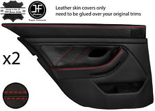 Red Stitch Arrière 2X complet porte carte en cuir couvre Fits BMW 5 Series E39 95-03