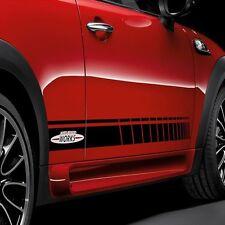 Mini Cooper R56 F56 side stripes graphics decal John Cooper Works stripe