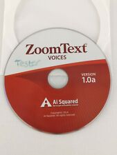 ZoomText Voices Version 1.0a Ai Squared CD DVD PC Computer Sight Vision