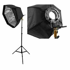 Life of Photo Studio Clip-Softbox 6 Eckig 60x60cm Nylon mit Kugelkopf und Blitza