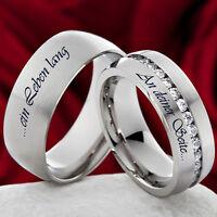 Trauringe Verlobungsringe & kostenloser Aussenlasergravur  M063