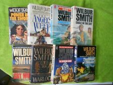 Lot of 8 Wilbur Smith Novels–Courtney Series–Ancient Egypt books!
