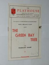 The Playhouse Theatre Programme. The Green Bay Tree. 1951. Mordaunt Shairp.