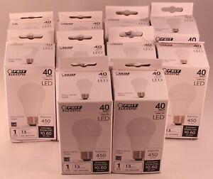 10 Bulbs Feit Electric 40-Watt Equiv. A19 LED Light Bulbs 450 Lumens 5W 3000k