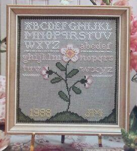 Sweet Briar Sampler, CROSS STITCH PATTERN, Lovely Alphabet Sampler