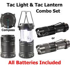 Tac Lantern & Tac Light 300/600 LUMENS BRIGHT Hi/Low Beam Zoom Strobe COMBO SET