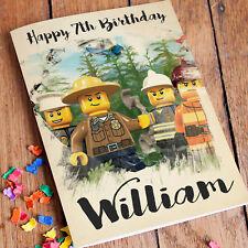 Lego City Personalised Birthday Card FREE Shipping | Any Name andAge Boys Girls