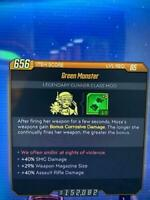 Lvl 65 Green Monster Moze Com +5 Mag Size/Smg/Assault Rifle Dmg BL3 Xbox One