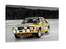 Audi Quattro 30x20 Inch Canvas Art - Framed Picture Group B Rally