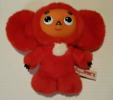 Red Cheburashka toy Russian Olympic Team Mascot Bosco Sport Rare Plush Чебурашка