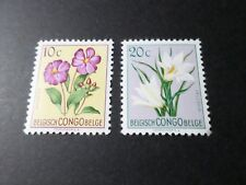 CONGO BELGE timbres 302 et 304, COLONIES, FLEURS, FLOWERS, neufs* VF MH STAMPS