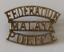 Federation MALAYA POLICE Shoulder Title Badge Malaysia Emergency Confrontation