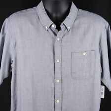 New Ezekiel Gasket Short Sleeve Trim Fit Shirt Mens XL Extra Large Indigo Blue