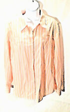 Tommy Hilfiger Womens Button Down Long Sleeve Shirt Striped Multi-color Size XXL