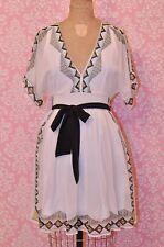 BCBG Max Azaria Silk Print Dress with Tie! Size 0