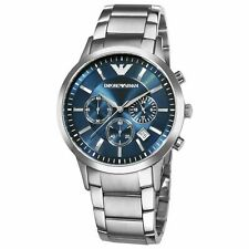 Emporio Armani AR2448 Blue Dial Stainless Steel Watch for Men 100% AUTHENTIC