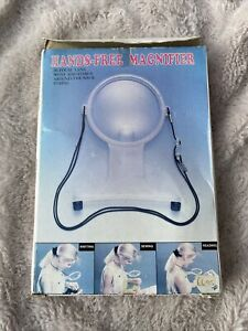 Vintage Hands Free Magnifier Magnifying Glass Reading Sewing Crafts Bifocal