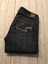 American Eagle Denim Super Stretch Kick Boot Jeans Size 0 Long