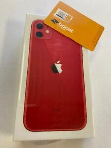 apple iphone 11-64GB - Red (BOOST MOBILE) Brand New Sealed 1 Year Apple Warranty