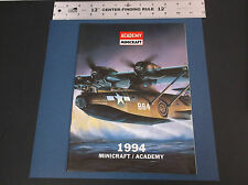 VINTAGE  1994 MINCRAFT - ACADEMY HOBBY MODEL KIT  CATALOG *VG-COND*