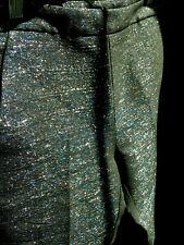 NWT REISS Midnight Black Blue Silver KALLI Sparkle Pants Trousers UK 8 US 4 $245