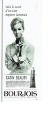 Publicité Advertising 068  1963   Bourjois  maquillage fond teint satin Beauty