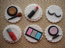 make up cup cake toppers x 6, birthday / celebration