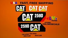 Caterpillar 259D Decal Kit cat Skid Steer stickers
