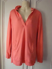 CORAL HOODED SWEATSHIRT, AGE 14-15, BY GENERATION 915