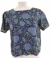 JACK WILLS Womens Top Blouse UK 12 Medium Multicoloured Cotton  LU09