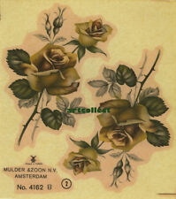Vintage Ceramic Decal: Floral (Mulder & Zoon, Amsterdam. Printed in Holland.)