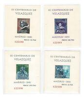 Hojitas III Centenario de la muerte de Velazquez año 1961  1344/1347