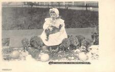 Just Hatched At The Ostrich Farm, Pasadena, California Pre-1908 Vintage Postcard