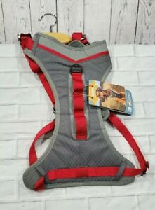 KURGO Journey Active and Travel Dog Harness Red Gray SIZE XL