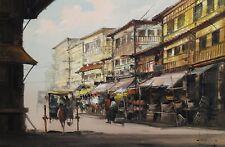 Manila, Philippines Street Scene Painting by Filipino artist Eddie Sarmiento