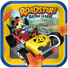 MICKEY MOUSE Roadster Racers LARGE PAPER PLATES (8) ~ Birthday Party Supplies