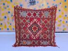Authentic Vintage Boujad Moroccan Handmade Rug 4ft7x4ft7 Bohemian Fading Red Rug