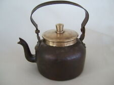 Small antique brass kettle with lid