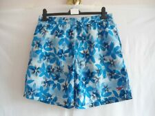 Speedo Blue Floral Print Swimming Swim Board Shorts Size M
