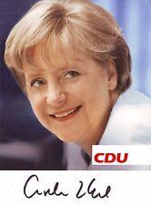 Angela Merkel ++ Autogramm ++ deutsche Bundeskanzlerin ++ CDU ++ Autograph
