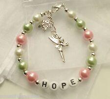Girls Personalised TINKERBELL charm bracelet Birthday Gift