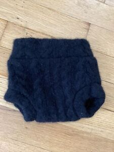 Upcycled wool diaper cover soaker shorts shortie - Newborn