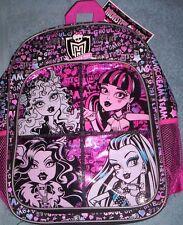 MONSTER HIGH Backpack NeW Full Size Book Bag Tote NWT + 2 Monster High FOLDERS